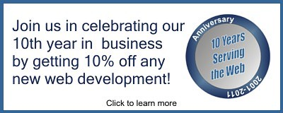 See Our 10 Year - 10% Off Web Special